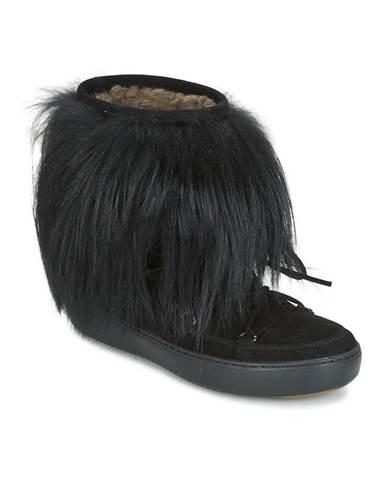 Čierne polokozačky Moon Boot