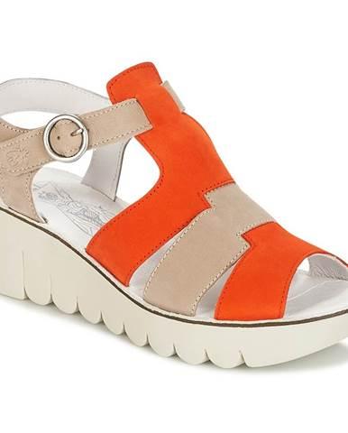 Oranžové sandále Fly London