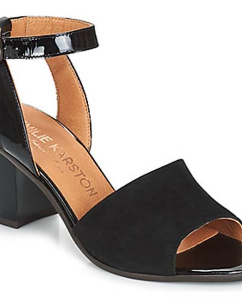 Čierne sandále Karston
