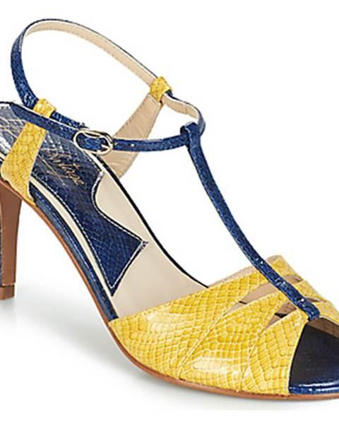 Modré sandále Ippon Vintage