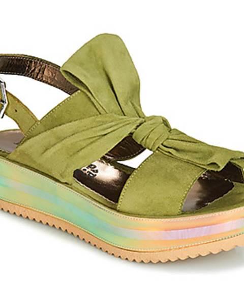Zelené sandále Papucei