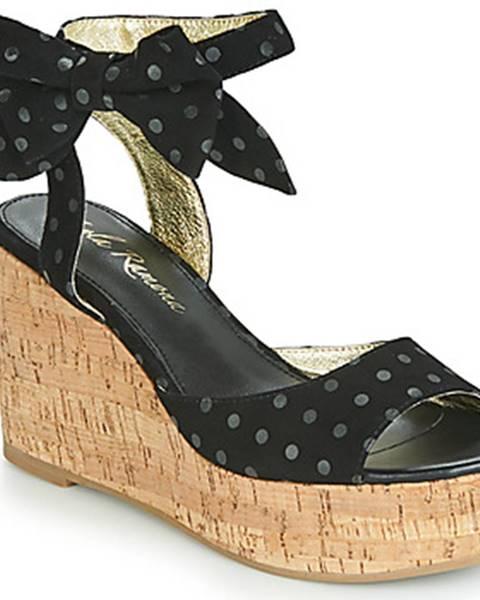 Čierne sandále Lola Ramona
