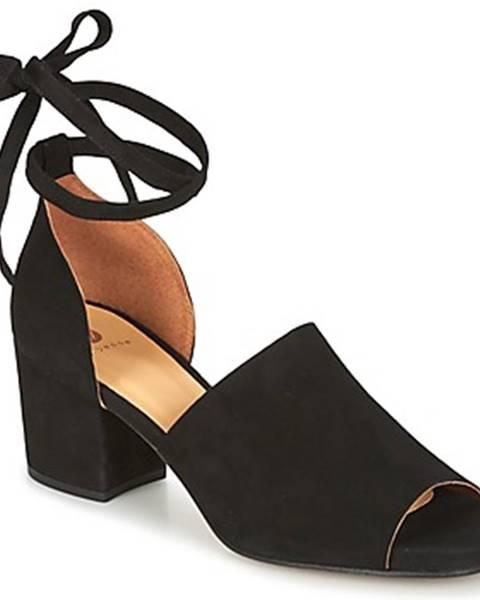 Čierne sandále Hudson