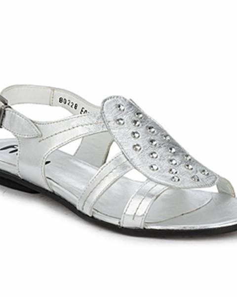 Strieborné sandále Fidji