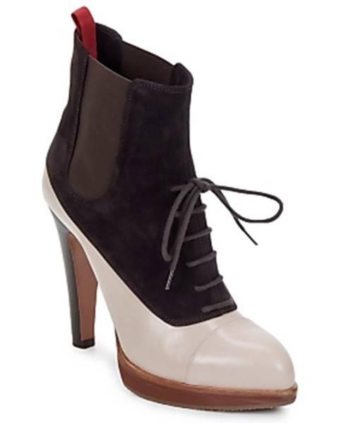 Hnedé topánky Michel Perry