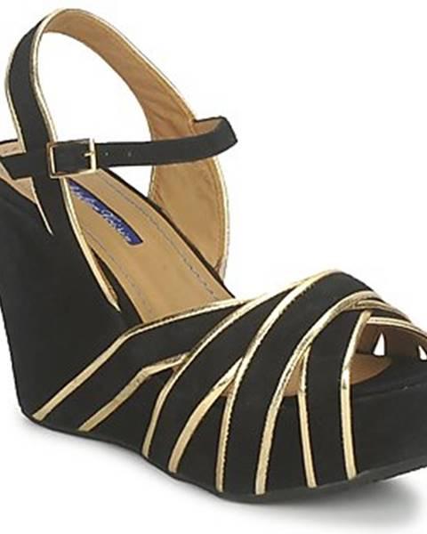 Čierne sandále Atelier Voisin