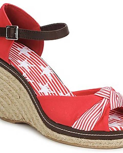 Červené sandále StylistClick