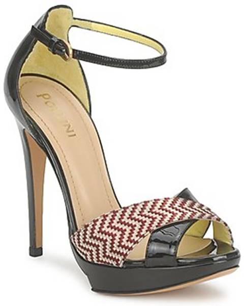 Čierne sandále Pollini