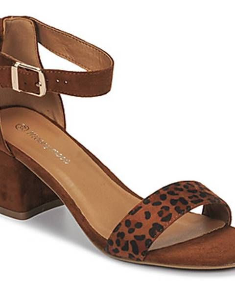 Hnedé sandále Moony Mood