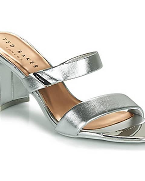 Strieborné sandále Ted Baker