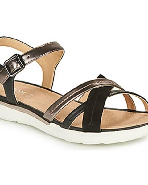 Čierne sandále Geox