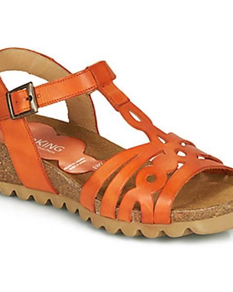 Oranžové sandále Dorking