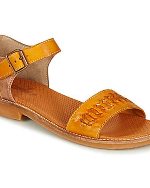 Žlté sandále Casta