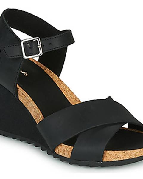 Čierne sandále Clarks
