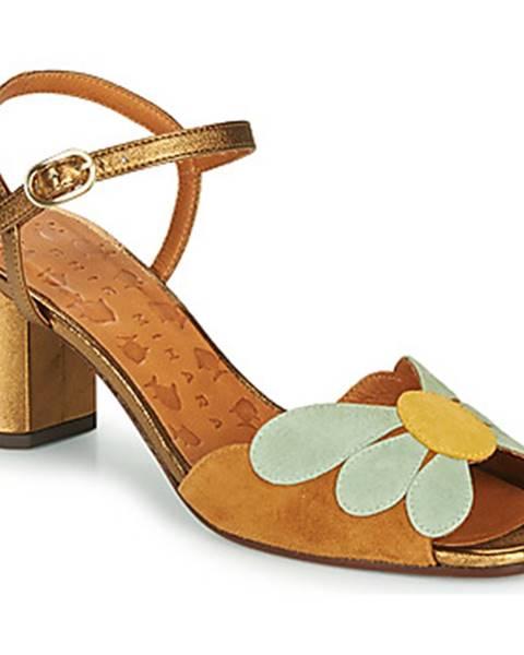 Zlaté sandále Chie Mihara