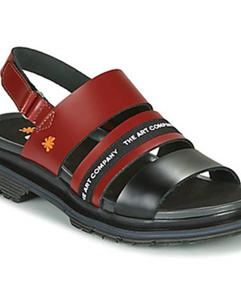 Bordové sandále Art
