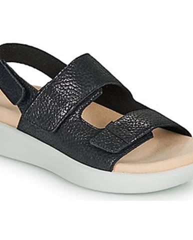 Čierne sandále Romika