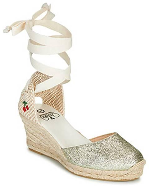 Zlaté sandále Le Temps des Cerises