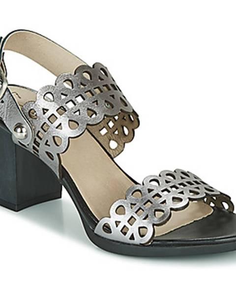 Strieborné sandále Dorking