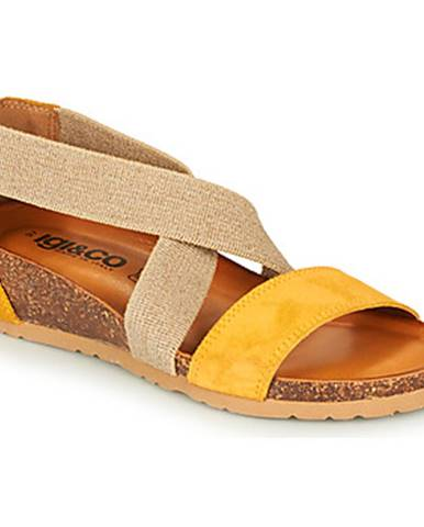 Žlté sandále IGI CO