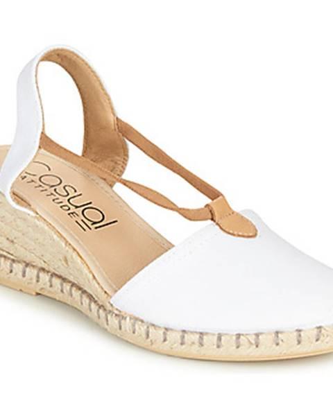 Biele sandále Casual Attitude