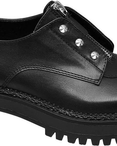 Čierne poltopánky Catwalk