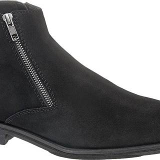 AM SHOE - Čierna kožená členková obuv AM SHOE