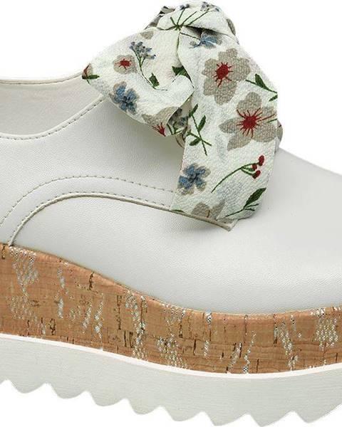 Biele poltopánky Catwalk