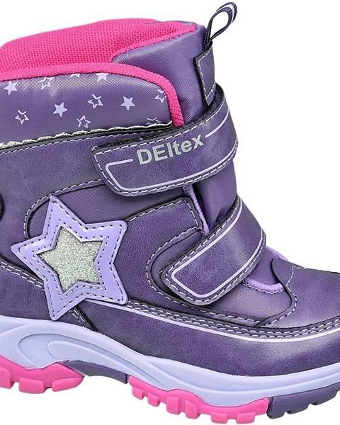 Fialová zimná obuv Cortina