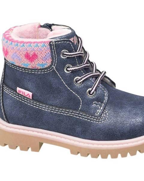 Modrá zimná obuv Fila