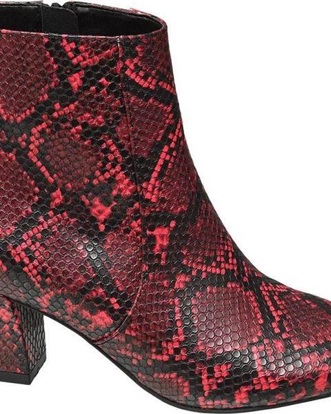 Červené čižmy Star Collection