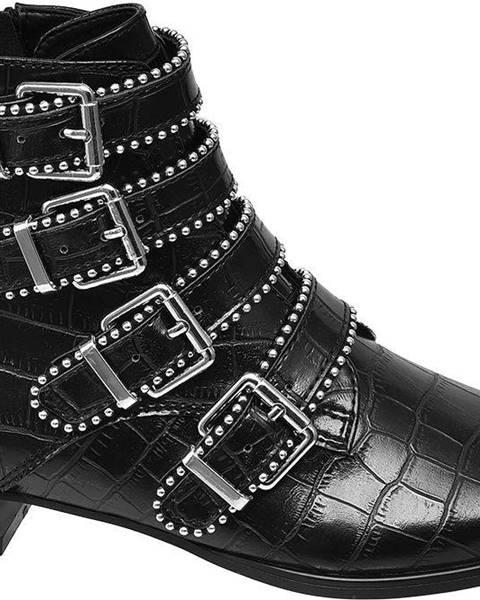 Čierne čižmy Star Collection