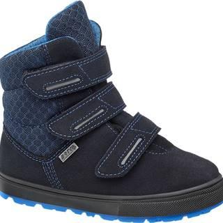 Bartek - Modrá kožená zimná obuv s TEX membránou Bartek