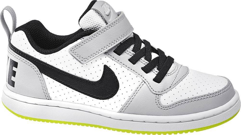 Nike NIKE - Bielo-sivé tenisky na suchý zips Nike Court Borough