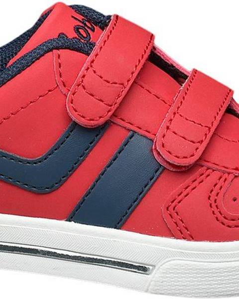 Červené poltopánky Bobbi-Shoes