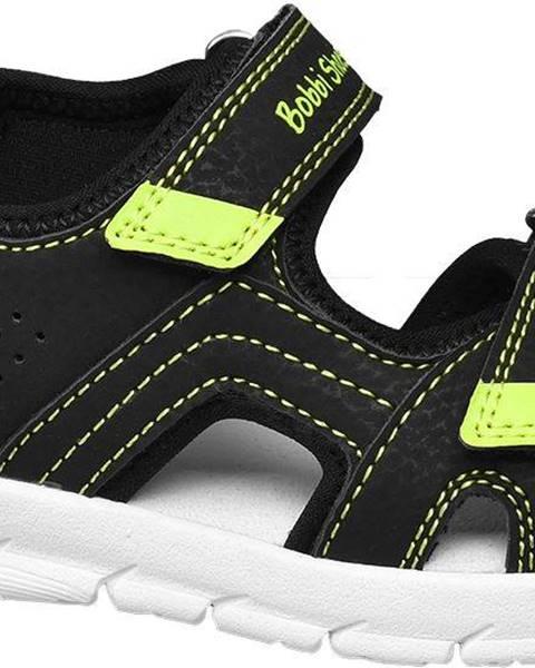 Čierne sandále Bobbi-Shoes