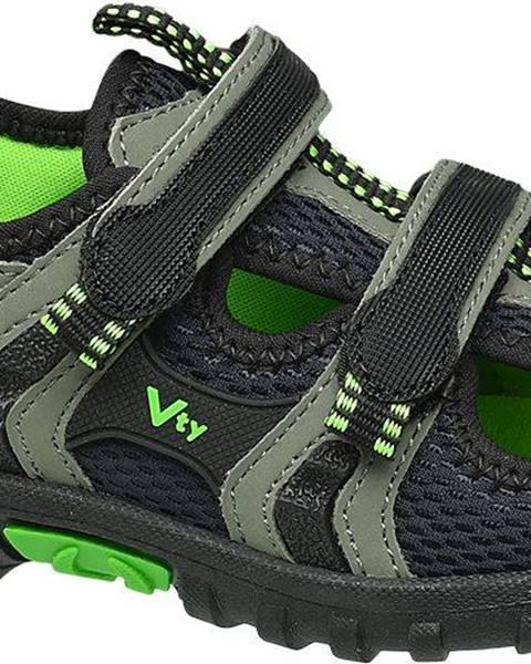 Sivé sandále Vty