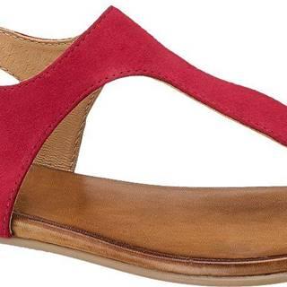 5th Avenue - Červené kožené sandále 5th Avenue