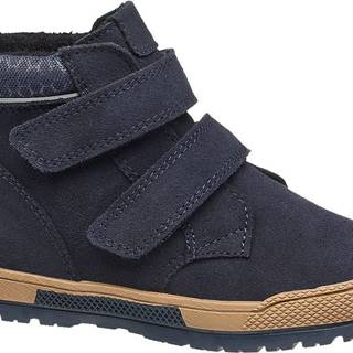 Bartek - Modrá kožená členková obuv Bartek