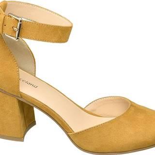 Graceland - Žlté sandále na podpätku Graceland