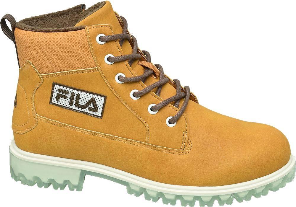 Fila Žlto-hnedá členková obuv na zips Fila
