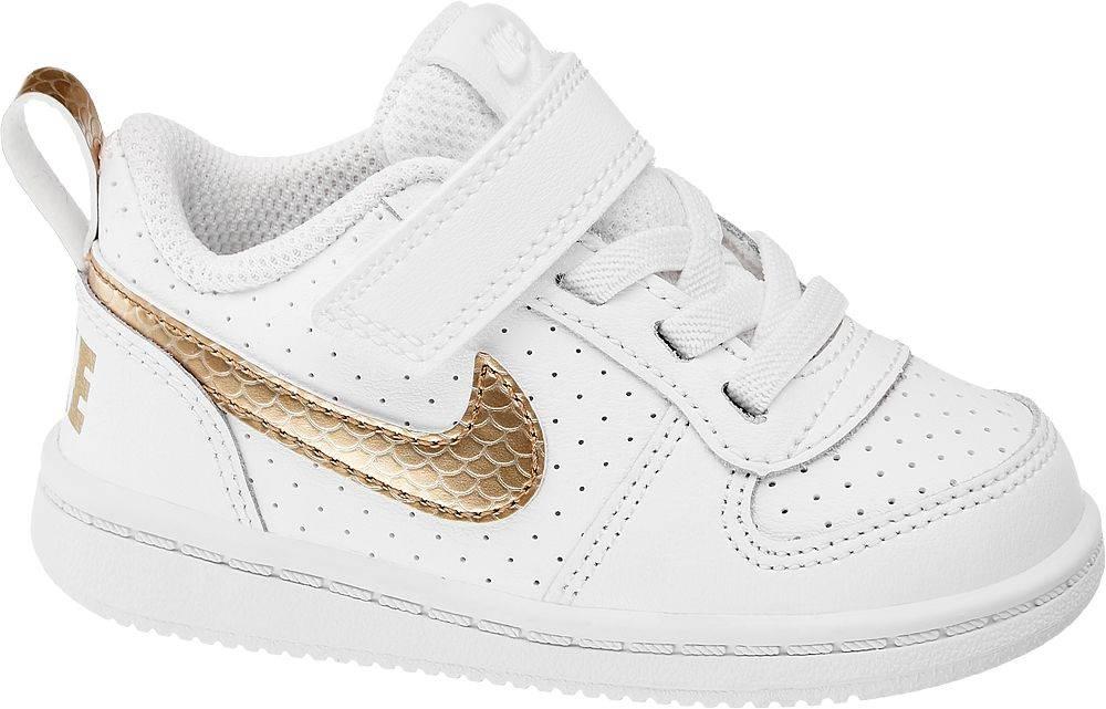 Nike NIKE - Biele tenisky na suchý zips Nike Court Borough Low