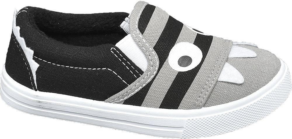 Bobbi-Shoes Bobbi-Shoes - Sivo-čierne slip-on plátenky Bobbi Shoes