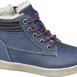 Venice - Modrá členková obuv na zips Venice