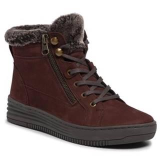 Šnurovacia obuv GO SOFT WI16-FOOTER-01 Prírodná koža(useň) - Nubuk