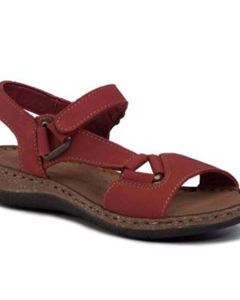 Červené sandále GO SOFT