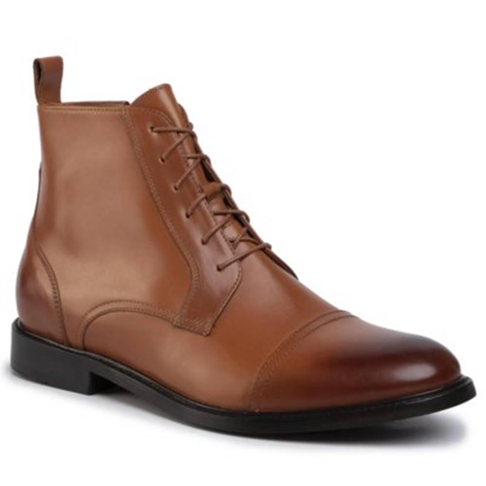 Gino Rossi Členkové topánky Gino Rossi MTU417-CHUCK-05 Prírodná koža(useň) - Lícova