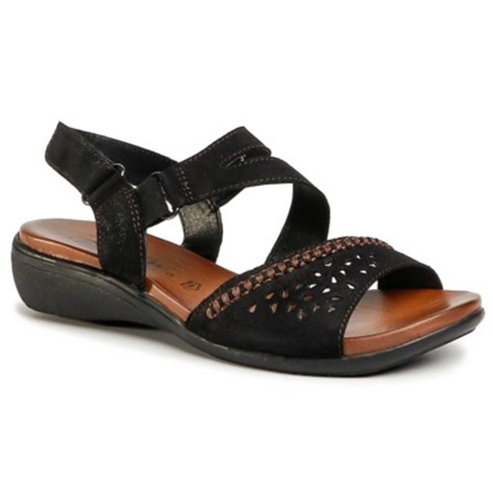 GO SOFT Sandále GO SOFT WI16-ANYA-01 Prírodná koža(useň) - Zamš