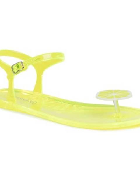 Žlté sandále Bassano