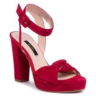 Sandále Gino Rossi A45185-01 Prírodná koža(useň) - Zamš